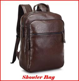 Wholesale ladies leather laptop - Fashion Handbags 2016 New Brand Backpack PU Leather Double Shoulder Bag for Men Sport Bag Laptop pad School Bag out098