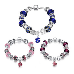 Wholesale Europe Fashion Charm Bead Bracelet - 925 silver charm bracelet beads Fashion jewelry for women classic Queen style top quality Europe Hot Free shipping 5pcs   lot