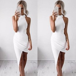 Wholesale Bodycon Sleeveless Denim Dress - The Explosion White Compact Height Lead Sleeveless beach maxi chiffon Dress long sleeves denim casual work for women 2016 bodycon dresses