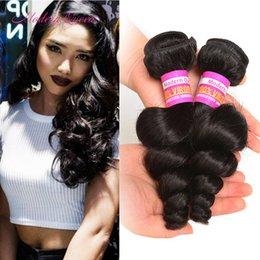 Wholesale Hair Silk Products - 100% Peruvian Loose Wave Hair Weaves 2 Bundles Loose Wave Hair Extensions Soft&Silk Modern Queen Products Peruvian Unprocessed Loose Wave