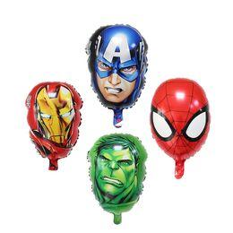 Wholesale Captains Coat - The Avengers Foil balloons super hero hulk man Captain America Ironman spiderman Kids classic toys helium balloon