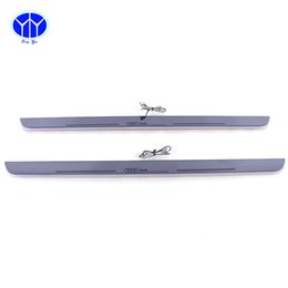 Wholesale Led Door Sill Plates - LED Pedals Led moving door scuff door sill plate car styling illuminated modified special welcome pedal for Audi Q3Q7 2013-2015