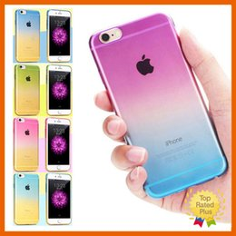 Wholesale Iphone 5s Clear Case Rubber - Fashion Ombre Silicone Gel Rubber Clear TPU Case Covers Skin For iPhone 5 5S SE 6 6S Plus Cases Skins