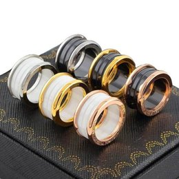 Wholesale Great Love - Hot classic brand bv Ceramic rings Stainless Steel love ring wide Ceramic ring for women men Couples wedding ring fine rings wholesale