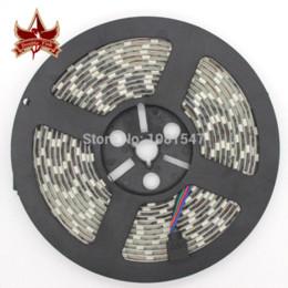 Wholesale Discounts Led Light Strip - Discount 12V 5050 RGB LED Strip Light 60LEDs M 5M Roll Waterproof + 24Keys IR Controller+5A 60W Adapter Power