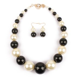 Wholesale Cheap Stone Earrings - 2015 Arrival Stock Wedding Jewelry Accessories Pearls Bridal NeNew Arrival In Stock ckless and Earring Sets Cheap Flower Party Jewelry Set