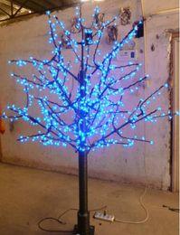 Wholesale Cherry Bulb Ships - Free Shipping LED Christmas Cherry Blossom Tree 672pcs LED Bulbs 1.8m 6ft Height 110 220VAC Rainproof Outdoor Usage LLFA