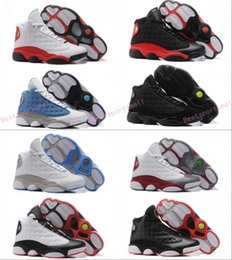 Wholesale Man Online Games - 2017 Air Retro 13 XIII Men Basketball Shoes CHICAGO Red Bred Black Cat He Got Game Black Sneaker Sport shoes Online Sale