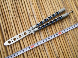 Wholesale Practice Balisong - Benchmade Trainer BM40 Butterfly Balisong knife ,practice balisong butterfly Trainer, Die cast stainless steel handle with nylon sheath,Blue