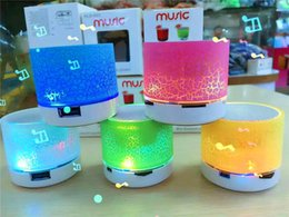 Wholesale Speaker Mp3 Flash Drive - Mini Bluetooth Speakers Portable Wirless Stereo Speaker A9 LED Light Speaker Support TF Card USB Flash Drive FM Radio For Cellphone Computer