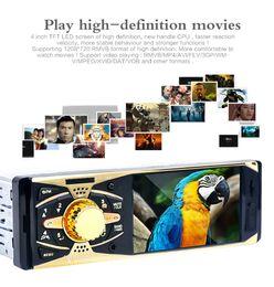 televisores do painel do carro Desconto 4 polegada Tela Bluetooth V2.0 Câmera de Visão Traseira Do Carro de Áudio Estéreo 12 V Auto MP5 Player de Vídeo AUX FM USB SD MMC com Controle Remoto