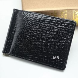Wholesale Short Square Gift Box - Luxury MB wallet Hot Leather Men Wallet Short billfold wallets MT purse card holder wallet High-end gift box package