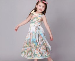 Wholesale Dres For Kids - Baby Clothing 2016 New Fashion Girl Dres Summer Kids Clothes Gown Baby Girls Dress Rose Flower For Party Dreses Birthday Dress