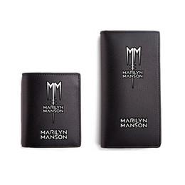 Marilyn Manson Carteras Negro PU Monedero corto Hombres Mujeres Carteira Cartera de cuero Rock Band desde fabricantes