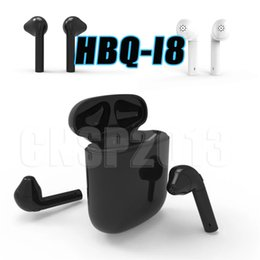 Wholesale Earphone Earbuds Iphone White - wireless bluetooth HBQ I8 Earphone for Android Samsung HTC Sony Apple iPhone Twins Mini Headphone Stereo Earbuds 4.1 Headset