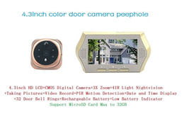Wholesale Door Peephole Viewer Motion - Hot 4.3inch digital video electronic door peephole viewer eye camera support nightvision motion detection 3X zoom