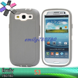Wholesale Robot S3 - Tire Robot Hybrid Heavy Duty Rugged Shockproof Hard plastic Soft Silicone Case Skin Cover For Samsung Galaxy S3