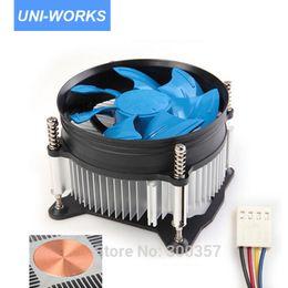 Wholesale Desktop Cpu Cooling Fan - Wholesale- Desktop Computer PC CPU Heatsink Cooler Fan copper core 4 Pin for LGA 1150 LGA1156 LGA1155