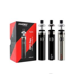 Wholesale Pearl Tank - Authentic Amigo EPO Vape Pen Kit with 1500mAh FP50 Battery 2ml East Pearl Top Filling Tank with Z-tech Coil