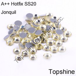 Wholesale Jonquil Rhinestone - 1440pcs 5mm Popular Size SS20 Jonquil Glass Crystals Starss Hot Fix Stones Heat Transfer Rhinestones