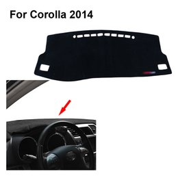 Wholesale Dashboard For Toyota Car - 2015 car dashboard Protected from light mat console shading Sun protection visor pad For Toyota For Corolla free shipping