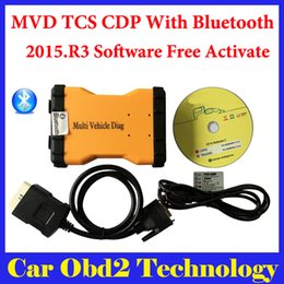 Wholesale Code Reader Ford - DHL Shipping ! (3PCS) 2015.R3 Mulit Vehicle Diag MVD With Bluetooth Same Function As TCS CDP Pro For Cars amd Trucks 3 IN1 + Carton box