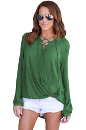Wholesale Blusas Moda - CRYG blusas mujer de moda 2017 Women Solid Lace Up Blouse Autumn Spring Lady Long Sleeve Shirt Top Camisas Feminina vadim