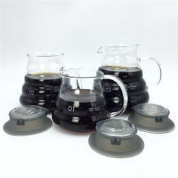 Wholesale Kettle Teapot Free Shipping - Free Shipping large capacity Espresso coffee server glass coffee pot  high quality teapot kettle measuring cup 360ml 580ml 780ml