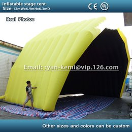 Wholesale Inflatable Stage Cover - Free shipping custom inflatable stage tent size 12mWx6.3mDx6.9mH giant inflatable stage cover marquee outdoor tent concert tent