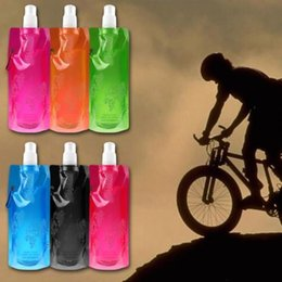 Wholesale Wholesalers Folding Water Bottle - Wholesale- 1x New Design Portable Folding Outdoor Plastic Collapsible Travel Water Bottles