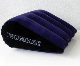 Wholesale Toughage Triangle - The hacker TOUGHAGE magic triangle pillow, sex appeal multifunctional, inflatable sofa cushion position sex toy free shippingNew Arriving