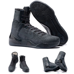 Discount pleat fabric - (With shoes Box)Hot Sale Bryant Kobe 9 IX High Elite FTB Fade To Black Mamba QS 869455-002 Men Boots Shoes Free Shipping