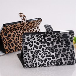 Wholesale Leopard Print Ipad Mini Case - Leopard Print Pattern PU Leather Folio Case Shock Resistant Stand Cover For iPad 2 3 4 Mini 1 2 3 Air OppBag
