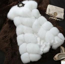 Llegada Invierno Cálido Moda Mujeres Importar Abrigo Chaleco de piel Alto grado Abrigo de piel sintética Piel de zorro Chaleco largo Más Tamaño: S-XXXXL desde fabricantes