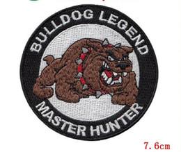 Mode Belle bouledogue animal Broderie Fer Sur Militaire Patch Applique Label Badge En Gros Personnalisé Sont Bienvenue patch ? partir de fabricateur