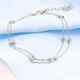 Wholesale Trendy Cheap Sandals - Cheap Barefoot Sandals Barefoot Anklet Chains Anklet Bracelet Gold Silver Anklet Chain Foot Jewelry Barefoot Simple Anklets MOQ 100pcs