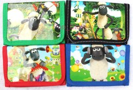 Wholesale Shaun Sheep Gifts - Hot ! 12 pcs Shaun the Sheep coin Wallets purses gift bags Children's gifts