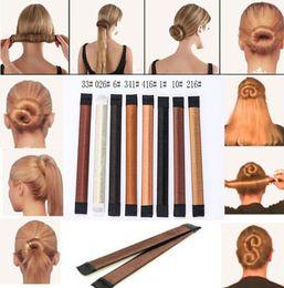 Wholesale Foam Bendy Rollers - Fashion Hair Magic Tools Bun Maker Hair Ties Girl DIY Styling Donut Former Foam Hair Bows French Twist Magic Tools Bun Maker - Free Shipping