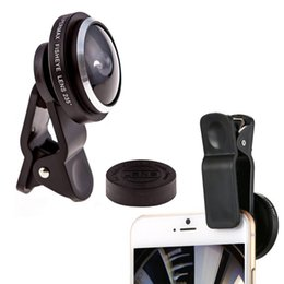Wholesale Detachable Lens - Universal Detachable Clip 235 Degree Fish Eye Lens For Mobile Cell Phone iPhone free shipping