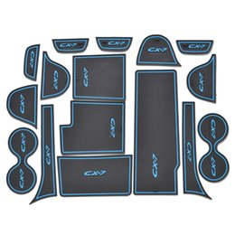 Wholesale Slot Cars Set - 16pcs set For 2014 mazda CX-7 CX7 CX 7 Gate Slot Pad Non-slip Cup Mats Anti Slip Door Groove Mat Accessories Sticker Car-styling