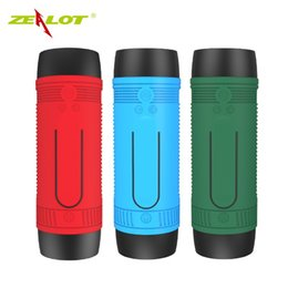 Wholesale Audio Vibration - Bicycle Speaker Bluetooth Bike Vibration Powerful Portable Subwoofer Blutooth speakers Water Resistant Powerbank FM Radio