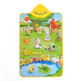 Wholesale Carpet Farm - Wholesale- Hot Sale Musical Sound Singing Farm Animal Farmery Child Playing Play Blanket Mat Carpet Playmat Kid Gift