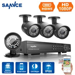 Wholesale Dvr Security Camera System 16ch - SANNCE 16CH Full 1080P HD Video HDMI DVR 4x IR-CUT Home Security Camera System