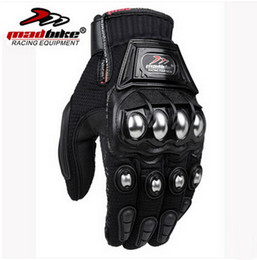 Wholesale Race Alloys - 2016 New MADBIKE motorcycle racing riding glove Off-road motorcycle gloves alloy Steel breathable drop resistance black red blue M L XL XXL