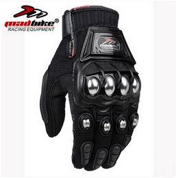 2016 Nuevo MADBIKE motociclismo racing montar guante Off-road moto guantes de aleación de acero transpirable resistencia a la caída negro rojo azul M L XL XXL desde fabricantes