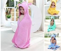 2019 colchas de bebê de qualidade Bonito dos desenhos animados 100% algodão qualidade superior Crianças Manto Com Capuz toalhas De Banho colcha de bebê Dos Desenhos Animados toalhas de praia por atacado DHL livre colchas de bebê de qualidade barato