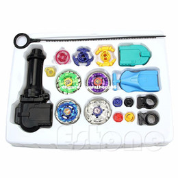 Wholesale Beyblade Metal Masters Gifts - Beyblade Metal Spinning Beyblade Sets Fusion 4D 4 Gyro Box Fight Master Beyblade String Launcher Grip For Sale Kids Toys Gifts