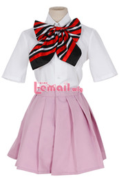 Wholesale Custom School Uniforms - Wholesale-Custom Size Anime Blue Exorcist Ao no Exorcist Cosplay Shiemi Moriyama Costume Anime School Uniform Cosplay