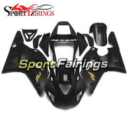 Wholesale 99 Yamaha R1 Plastics - Injection Plastics For Yamaha YZF1000 YZF R1 98 99 1998 - 1999 ABS Fairings Motorcycle Full Fairing Kit Cowlings Black with Gold Decals