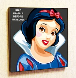 Wholesale White Wall Decals Quotes - Snow White Painting Decor Print Wall Art Poster Pop Canvas Quotes Decals